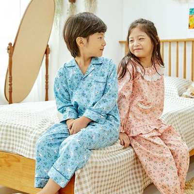 100701 아동잠옷 남자아이 여자아이 파자마 잠옷 초등학생 파티