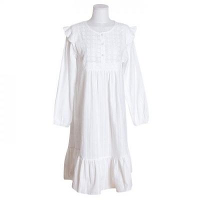 200268 여자원피스 원피스잠옷 도비면 잠옷 가을잠옷 긴팔잠옷