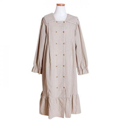 200266 여자원피스 원피스잠옷 면 마 잠옷 가을잠옷 긴팔잠옷