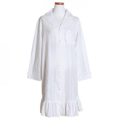 200265 여자원피스 원피스잠옷 도피면 잠옷 가을잠옷 긴팔잠옷