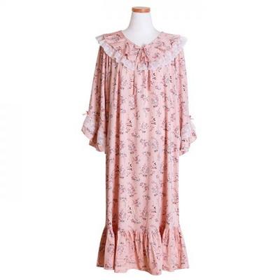 200260 여자원피스 원피스잠옷 모달면 잠옷 가을잠옷 긴팔잠옷