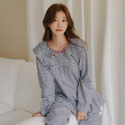 200307 여자잠옷 잠옷상하세트 면 잠옷 가을잠옷 긴팔잠옷