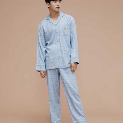 200322 남자잠옷 잠옷상하세트 레이온 면 잠옷 가을잠옷 긴팔