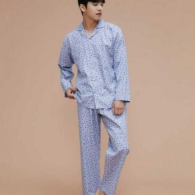 200321 남자잠옷 잠옷상하세트 면 잠옷 가을잠옷 긴팔잠옷