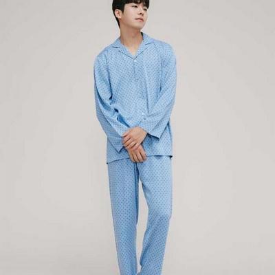 200320 남자잠옷 잠옷상하세트 레이온 잠옷 가을잠옷 긴팔잠옷