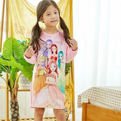 100737 아동잠옷 여자아이 홈웨어 시크릿쥬쥬 긴팔 원피스