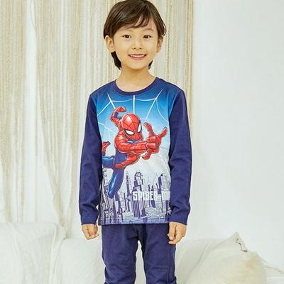 100743 아동잠옷 남자아이 홈웨어 스파이더맨 면20수 긴팔