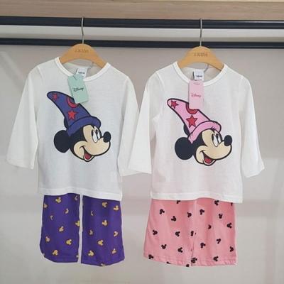100744 아동잠옷 남자여자 긴팔 홈웨어 디즈니정품