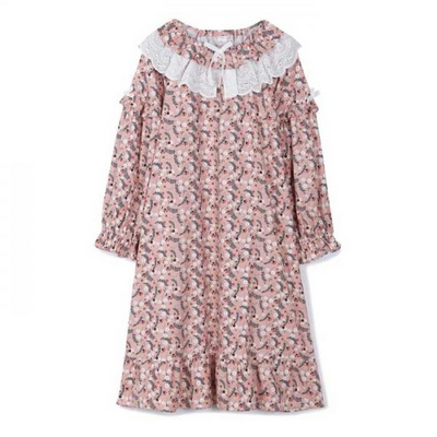 200360 여자원피스 원피스잠옷 면 잠옷 가을잠옷 긴팔잠옷