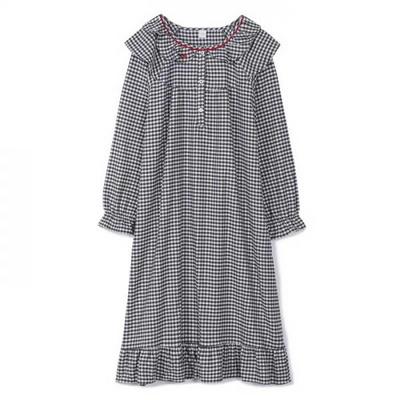 200358 여자원피스 원피스잠옷 면 잠옷 가을잠옷 긴팔잠옷