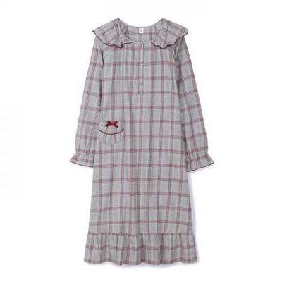 200357 여자원피스 원피스잠옷 면 잠옷 가을잠옷 긴팔잠옷