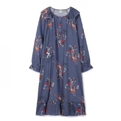 200356 여자원피스 원피스잠옷 면 레이온 잠옷 가을잠옷 긴팔