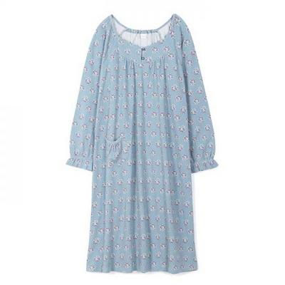 200351 여자원피스 원피스잠옷 면 폴리 잠옷 가을잠옷 긴팔잠옷