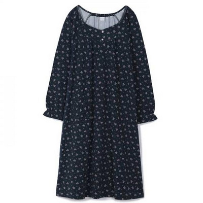 200349 여자원피스 원피스잠옷 면 스판 잠옷 가을잠옷 긴팔잠옷