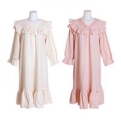 200402 여자원피스 원피스잠옷 이중거즈원피스 여성잠옷 긴팔