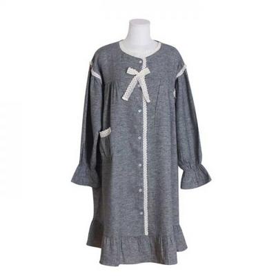 200401 여자원피스 원피스잠옷 기모원피스 여성잠옷 긴팔잠옷