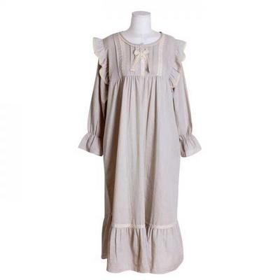 200399 여자원피스 원피스잠옷 이중거즈원피스 여성잠옷 긴팔