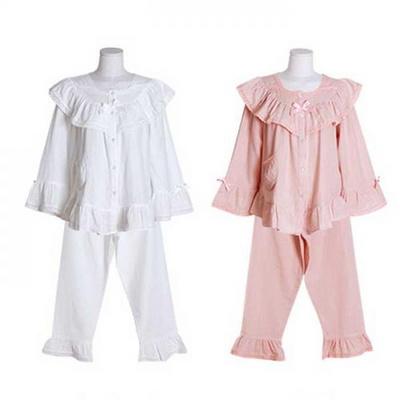 200378 여자잠옷 잠옷상하세트 이중거즈투피스 여성잠옷 긴팔
