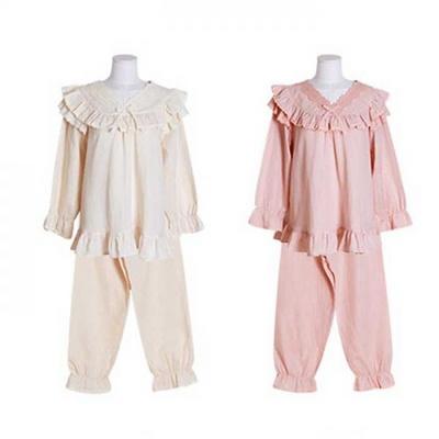 200377 여자잠옷 잠옷상하세트 이중거즈투피스 여성잠옷 긴팔