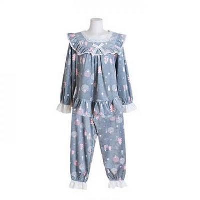 200376 여자잠옷 잠옷상하세트 극세사 잠옷 여성잠옷 긴팔잠옷