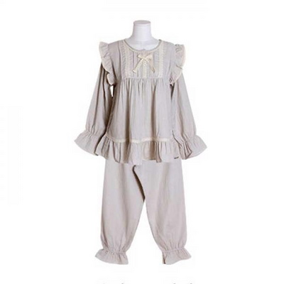 200375 여자잠옷 잠옷상하세트 이중거즈투피스 여성잠옷 긴팔