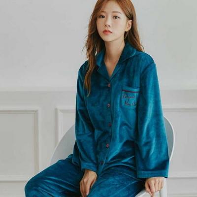 200369 여자잠옷 잠옷상하세트 극세사 여성잠옷 긴팔잠옷