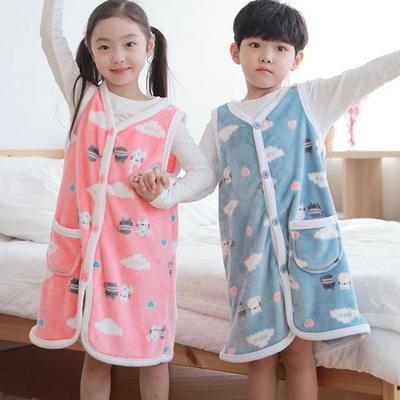 100820 남자여자 아동잠옷 조끼 수면바지 울트라밍크 스판