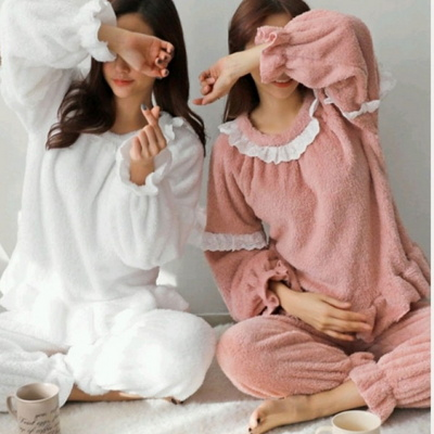 [혀니미니] 101063 여자잠옷 긴팔 파자마세트 실내복 겨울 수면잠옷