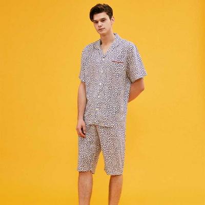 200743 남자잠옷 잠옷세트 레이온 잠옷 반팔잠옷 파자마