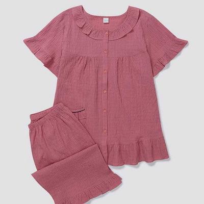 200790 여자잠옷 잠옷세트 면 잠옷 반팔잠옷 파자마 여성잠옷