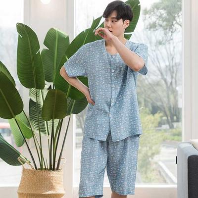 200890 남자잠옷 잠옷세트 인견 잠옷 반팔잠옷 파자마 홈웨어