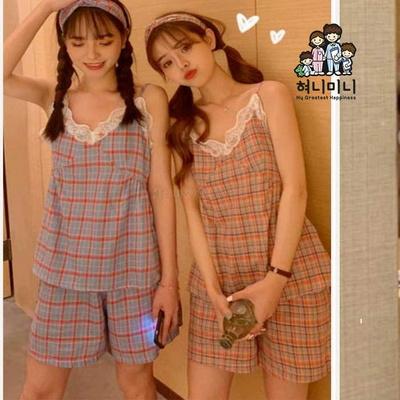 4000730 여자잠옷 상하세트 민소매 잠옷 여름잠옷 파자마