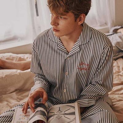 200992 남자잠옷 잠옷세트 면 모달 잠옷 긴팔잠옷 파자마 홈웨어