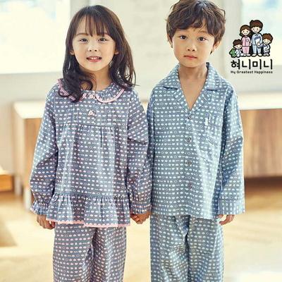 600084 아동잠옷 남자 여자 긴팔 잠옷 파자마 초등학생잠옷 가을 겨울