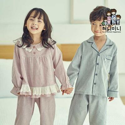 600082 아동잠옷 남자 여자 긴팔 잠옷 파자마 초등학생잠옷 가을 겨울