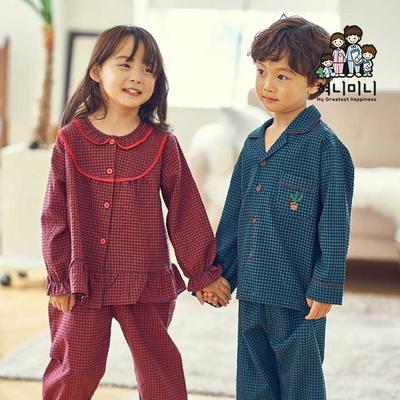 600111 아동잠옷 아이잠옷 여자 남자 잠옷 초등학생잠옷 체크잠옷