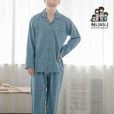 300036 남자잠옷 긴팔 면 잠옷 파자마 상하세트 홈웨어 국내생산