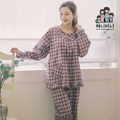 400178 여자잠옷 잠옷 상하세트 파자마 면 커플 홈웨어 국내생산