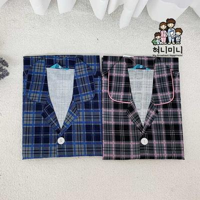 300039 남자잠옷 긴팔 면 체크 잠옷 파자마 상하세트 홈웨어 국내생산