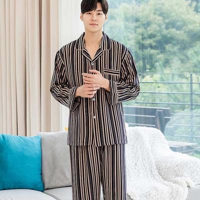 201181 남자잠옷 잠옷세트 큐디시 폴리 잠옷 긴팔잠옷 파자마