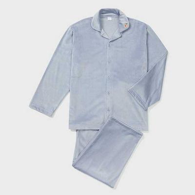 201254 남자잠옷 잠옷세트 스판 극세사 잠옷 긴팔잠옷 파자마