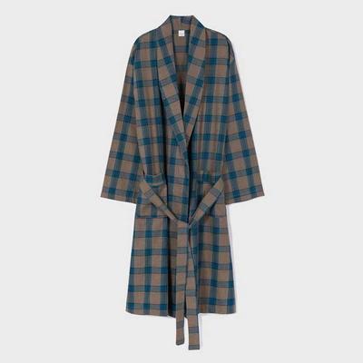 201249 남자가운 잠옷세트 면 가운 긴팔잠옷 파자마 홈웨어