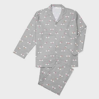 201248 남자잠옷 잠옷세트 면 잠옷 긴팔잠옷 파자마 홈웨어