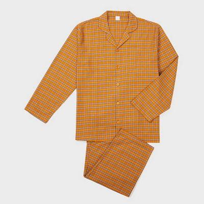 201246 남자잠옷 잠옷세트 면 선염 잠옷 긴팔잠옷 파자마 홈웨어