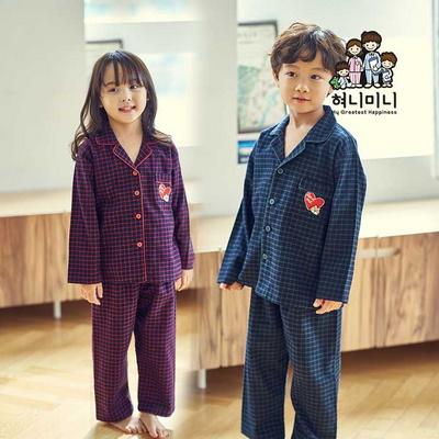 600118 남자 여자 아동잠옷 면기모 수면잠옷 원피스잠옷 초등학생