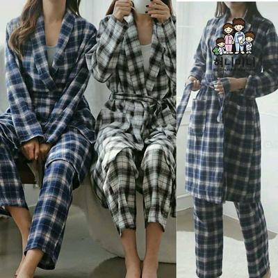 400207 여자잠옷 로브 파자마 잠옷 수면잠옷 파자마 가운