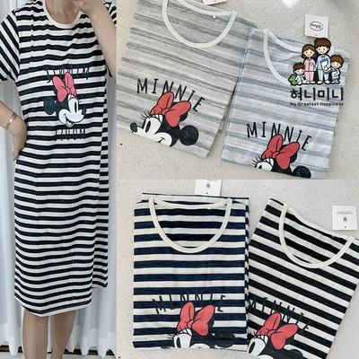 500082 여자원피스 반팔 원피스잠옷 홈웨어 드레스 면 국내생산