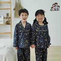 600212 아동잠옷 여자 남자 면 기모 잠옷 홈웨어 파자마 초등학생잠옷