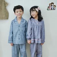 600210 아동잠옷 여자 남자 주자 면 잠옷 홈웨어 파자마 초등학생잠옷
