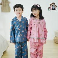 600209 아동잠옷 여자 남자 주자 면 잠옷 홈웨어 파자마 초등학생잠옷